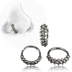 \'\'Idavoll Pali\'\' silver nose ring