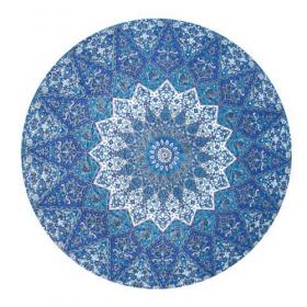 \\\'\\\'Indian Madala\\\'\\\' roundie hanging, Blue