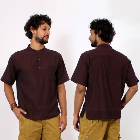 \\\'\\\'Jangbu\\\'\\\' shirt, Brown