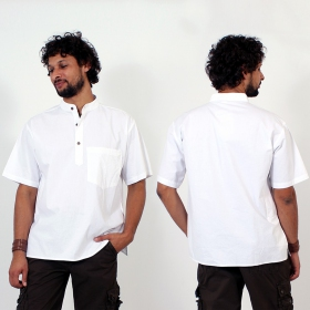 \\\'\\\'Jangbu\\\'\\\' shirt, White