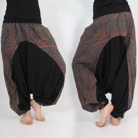 \\\'\\\'Jinn Aladin Haida\\\'\\\' harem pants, Brown and grey