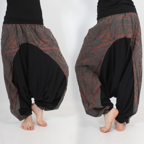 \\\'\\\'Jinn Aladin Haida\\\'\\\' harem pants, Brown and grey