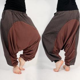 \\\'\\\'Jinn Aladin Kikko\\\'\\\' harem pants, Brown, black and grey