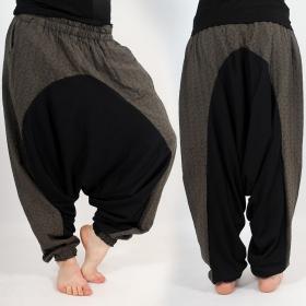 \\\'\\\'Jinn Aladin Kikko\\\'\\\' harem pants, Khaki and grey