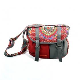 \\\'\\\'Kanika\\\'\\\' bag, Grey and red