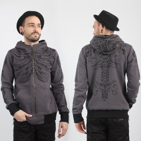 \'\'Kosta\'\' zipper hoodie, Light grey
