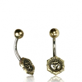 \'\'Kukhri Ohm\'\' belly piercing