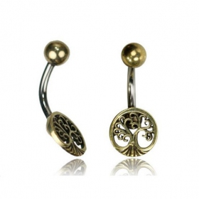 \'\'Laghu tree of life\'\' belly piercing