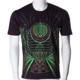 \'\'Lotus\'\' UV t-shirt, Black