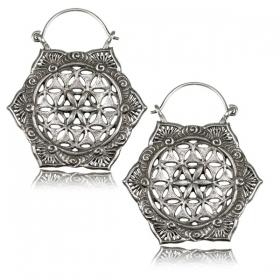\'\'Lotus fleur de Vie Pali\'\' earrings