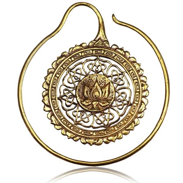 \'\'Lotus mandala\'\' ear jewel