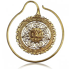 \'\'Lotus mandala\'\' ear jewel