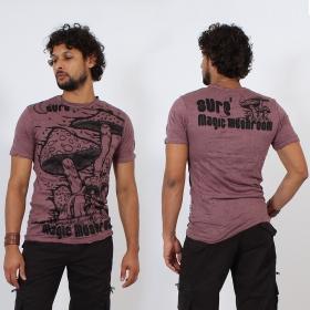 \\\'\\\'Magic mushroom\\\'\\\' t-shirt, Purple