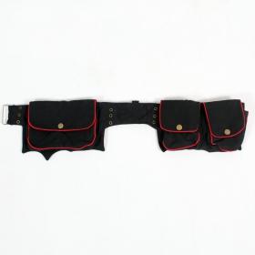 \\\'\\\'Maiya\\\'\\\' Money Belt, Black and red