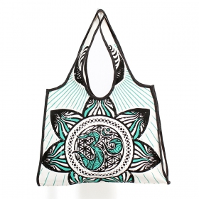 \\\'\\\'Mandala\\\'\\\' carrier bag, White, green and black