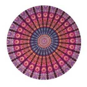 \\\'\\\'Mandala\\\'\\\' roundie hanging, Purple