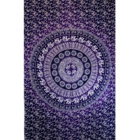 \'\'Mandala Elephant\'\' hanging, Purple