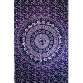 \'\'Mandala Elephant\'\' hanging, Purple