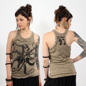 \\\'\\\'Octopus\\\'\\\' tank top, Light brown
