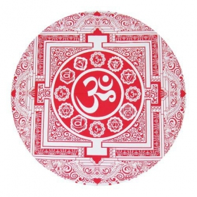 \\\'\\\'Ohm\\\'\\\' roundie hanging, Red