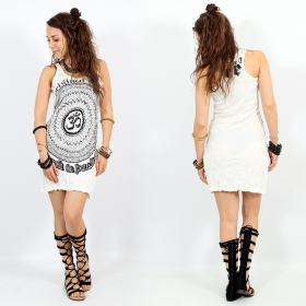 \\\'\\\'Ohm Mandala\\\'\\\' dress, White