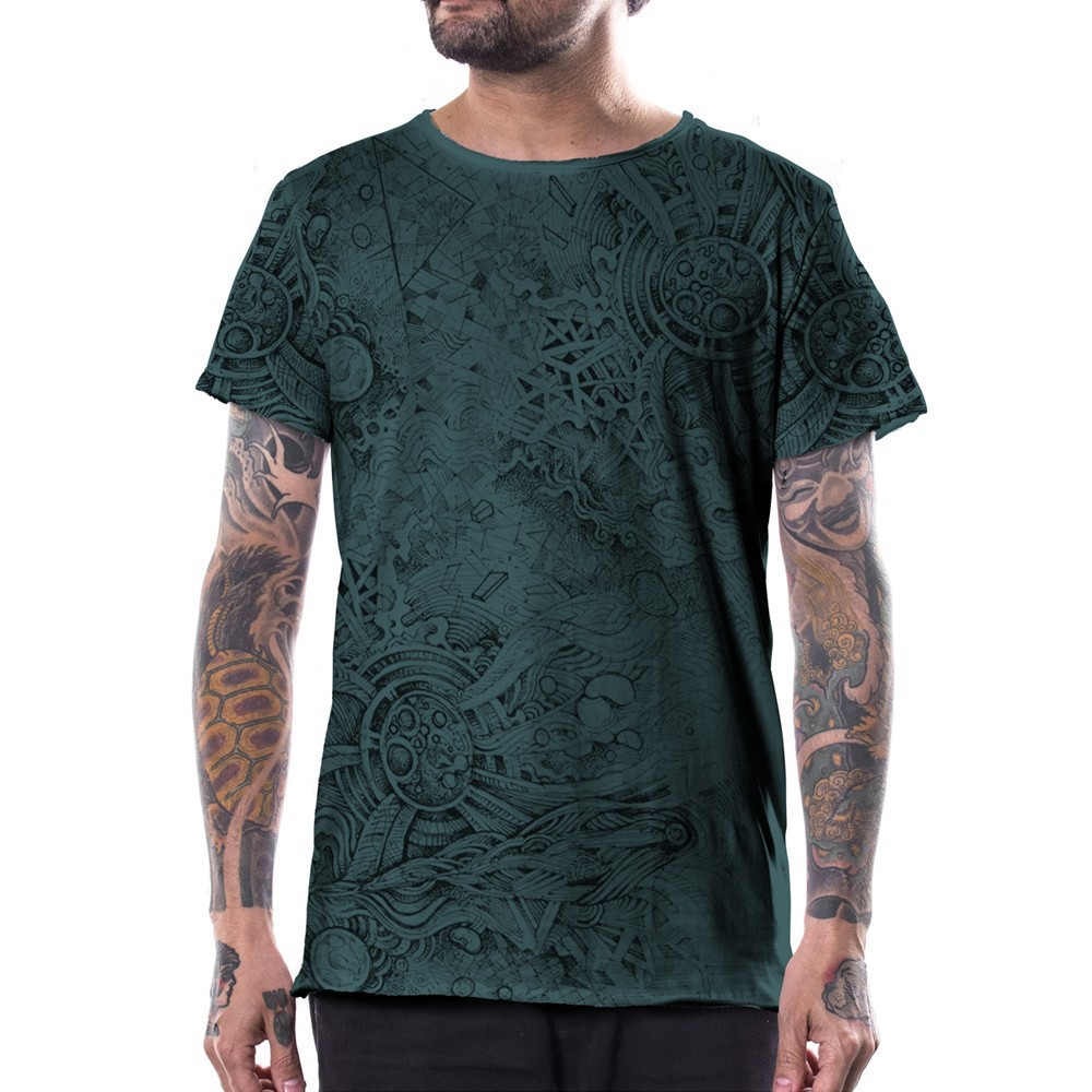 \'\'Overtones\'\' t-shirt, Turquoise