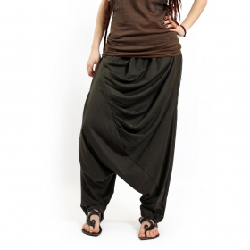 """Gender neutral - """"Mahaniya"""" harem pants, Army green"""