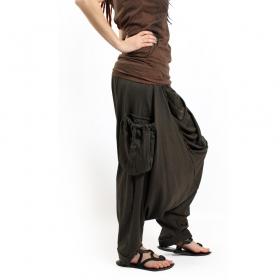"""Gender neutral - """"Mahaniya"""" harem pants, Khaki green"""