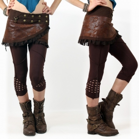 """Aswad"" short leggings, brown"