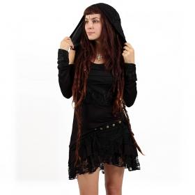 """Lace Wrap"" skirt, Black"