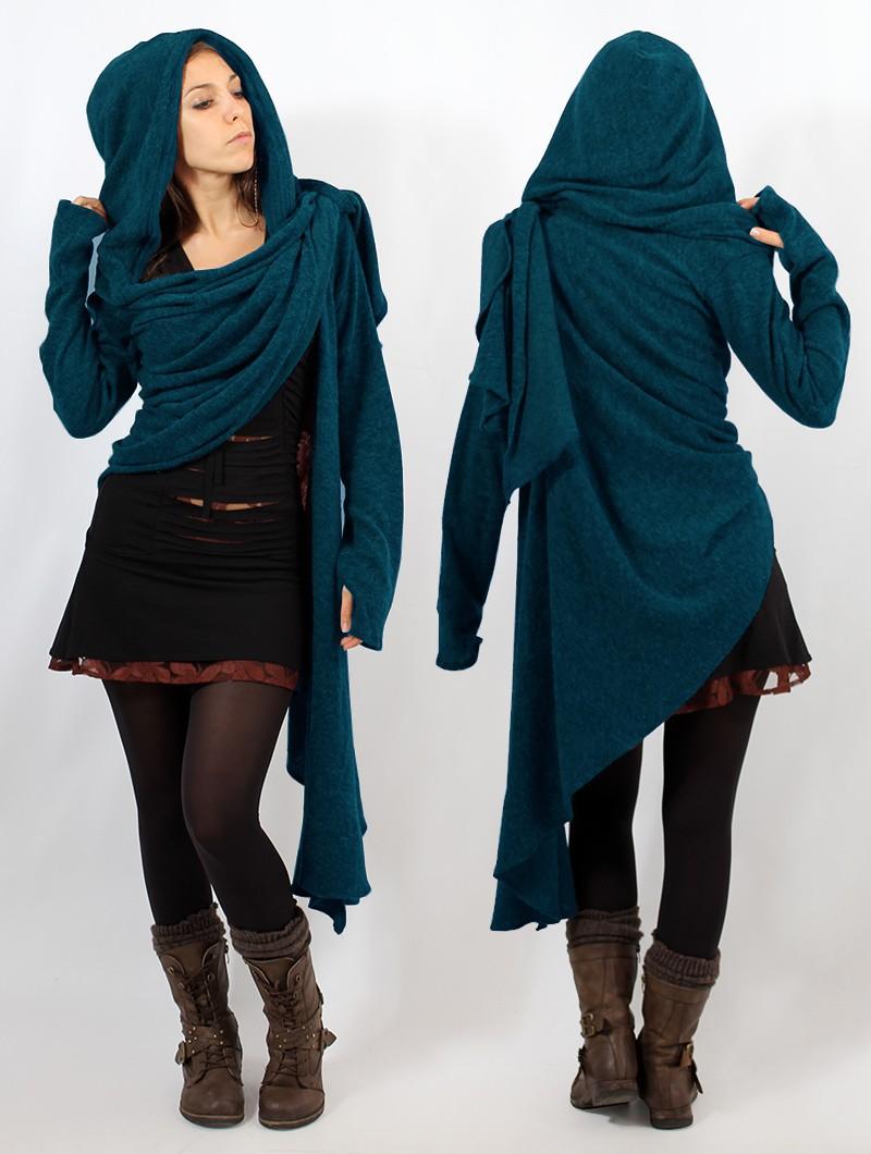 """""""Danaeriz"""" shawl, Blue"""