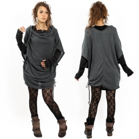 """Mandlu"" top, Dark grey"