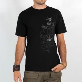 """Hummingbird tape"" t-shirt, Black"