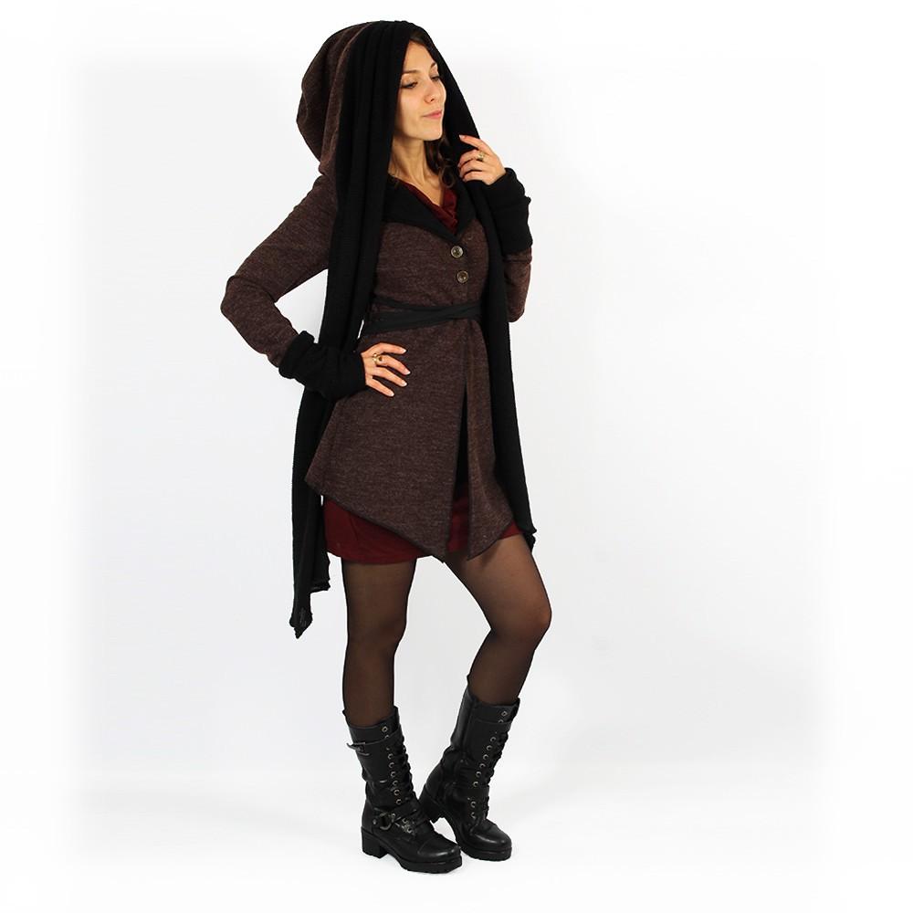 """Azmäe"" lined jacket, Brown and black"