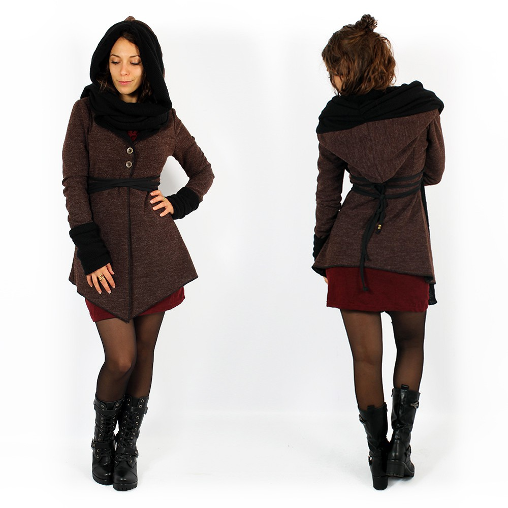 """Azmäe"" lined jacket, Brown and black"