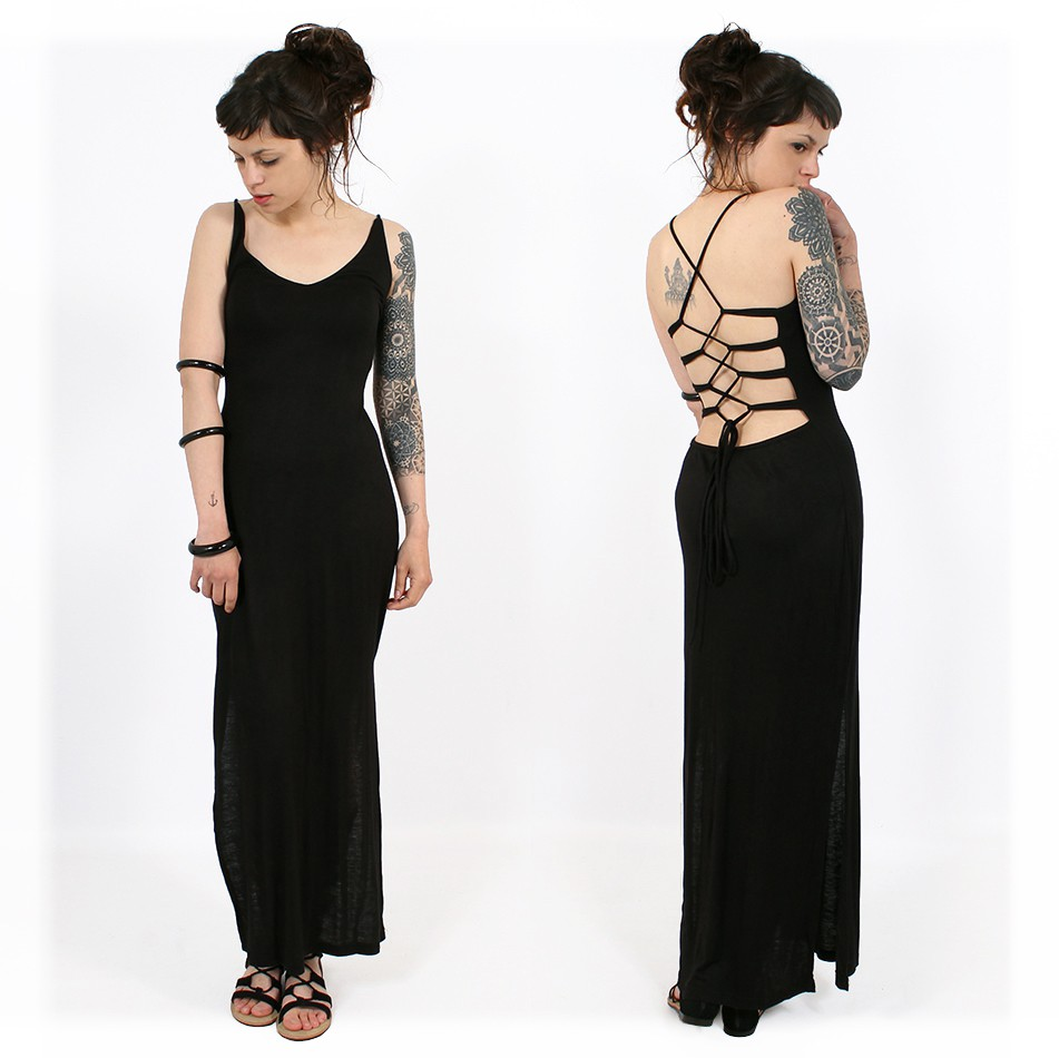 """Sunee"" long dress, Black"