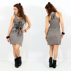 """Octopus"" dress, Grey beige"