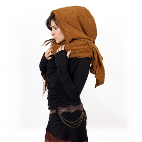"""Danae"" hooded cape, Rusty"