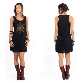 """Toonz Mandala"" dress, Black and gold"