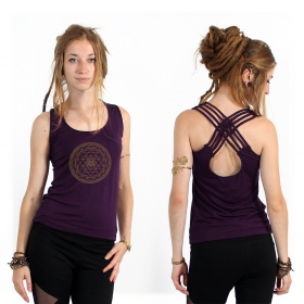"""Sacred Geometry"" tank top, Purple"