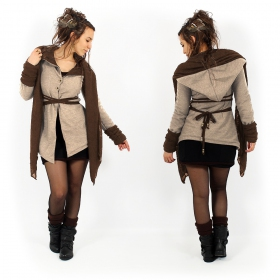 """Azmäe"" lined jacket, Beige and brown"