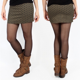 """Ishtar Flower of Life"" skirt, Khaki"