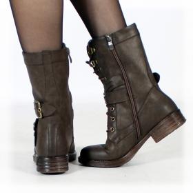 """Menaka"" boots, Dark brown"