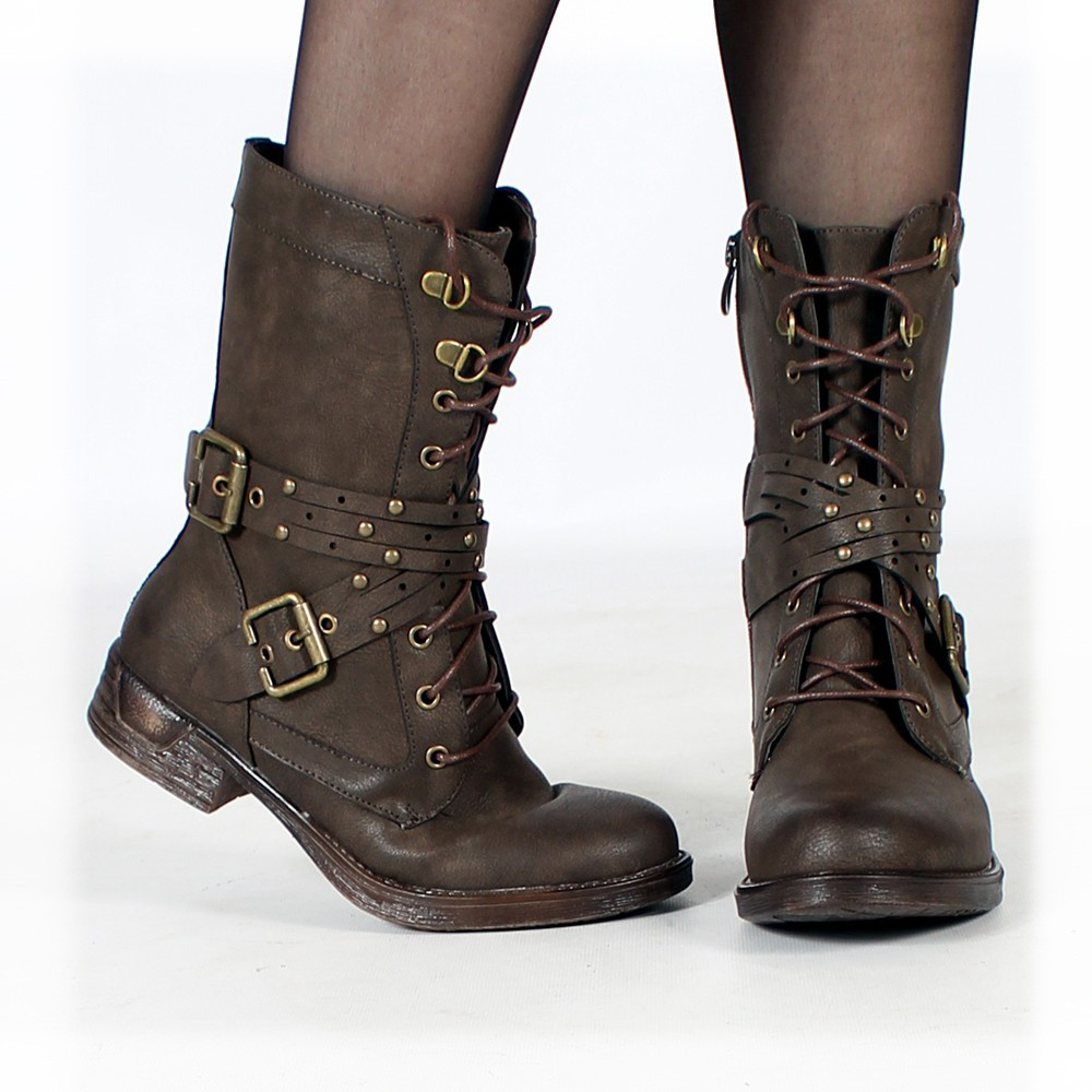 """Menaka"" boots, Dark brown"