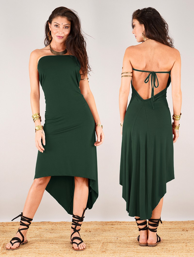 """Trisha"" Dress, Forest green"