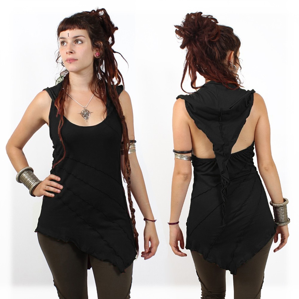 """Roy"" dwarf hood tunic, Black"