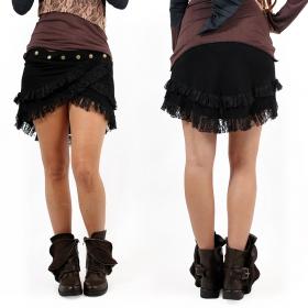 """Soft wrap"" skirt, Black"