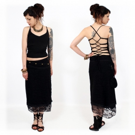 """Agun"" top, Black"