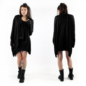 """Saumya"" poncho top, Black"