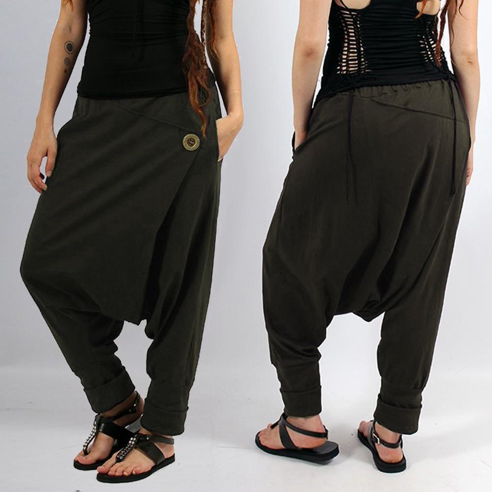 """Banilo"" harem pants, Khaki green"